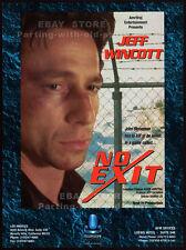 NO EXIT aka FATAL COMBAT__Original 1995 Trade Print AD / poster__JEFF WINCOTT