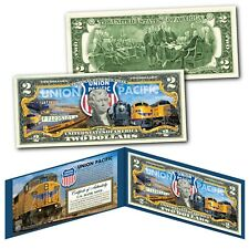 UNION PACIFIC Railroad Locomotive Company Train GE Locomotive Genuine US $2 Bill