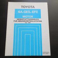 Toyota Corolla AE86 Werkstatthandbuch Motor 4A-GE (L-EFI) Abgaskontollsystem '85
