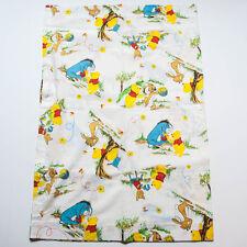 "Lot 4 Vintage Winnie the Pooh Sears Nursery Fabric Curtain Panels Size 30"" x 40"""
