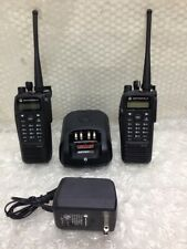 Lot Of 2 Motorola Xpr6550 Uhf Two-Way Radio w/ 1 charge Aah55Qdh9La1An