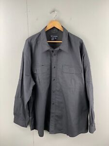 5.11 Tactical Series Mens Long Sleeve Button Shirt with Pockets Size 3XL Black