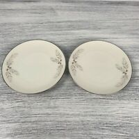 Lot Of 2 Franciscan Porcelain Snow Pine Salad Plate Gladding Mcbean Co. Japan