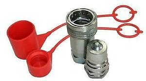 FLOWFIT HYDRAULIC ISO A QUICK RELEASE COUPLINGS 3/8 BSP THREAD & PLUG/CAP