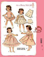 "Fits BETSY MCCALL Doll Pattern Wardrobe dolls wardrobe pattern 14"" No. 2300"