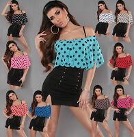 Sexy Women Clubbing Shirt Off Shoulder Blouse Ladies Party Top Dress 6 8 10 12 S