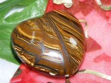 435 ct Tiger Eye Heart Shape Handcarved Gemstone - Magnificent