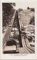1940s NORTH CONWAY New Hampshire NH RPPC Postcard MT Cranmore SKIMOBILES