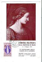 1948 - S. Caterina - lire 10 -  Sass 576 - su Cartolina Manifestazione - 1949