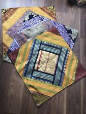 Pack Of 3 Indian Handmade Patchwork Cushion Cover