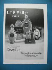 PUBLICITE DE PRESSE PIVER REVE D'OR PARFUM D'AVENTURE PARFUM 1933
