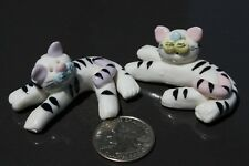 Collectibles Tigers Handmade Miniatures Animals Figurines Two Cute Tigers