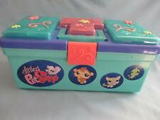 Littlest Pet Shop Tackle Box Tote Travel Carrying Case w/  Storage Compartments