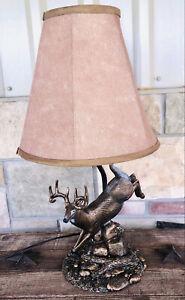 John Parson's Signature Series Whitetail Deer Sculpture Resin Table Lamp