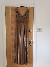 BIBA beautiful gold lurex 'Grecian' style dress-evening wear
