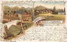 Gruss aus Gasthof zum Kapellenberg Schönberg Vogtland Brambach Litho 1898