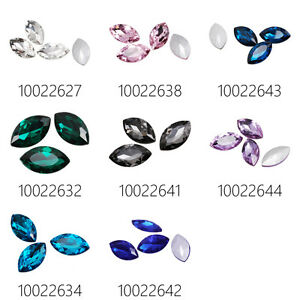 10Pcs 32*17 Marquise Cabochon Cushion Cut Fancy Crystal Stone For 4227
