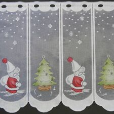 m/€ 11,69 Scheibengardine Gardine Bistrogardine 49 cm hoch Nikolaus Weihnachten