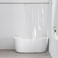 Clear Shower Curtain Solid Water Repellant Vinyl Plastic Liner Mildew Resistant
