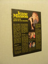 A081 JEANE MANSON  '1976 BELGIAN CLIPPING