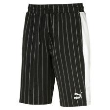 PUMA PINSTRIPE AOP Shorts 579872 01 Black White Premium Bermuda Men's Medium NEW