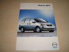 MAZDA MPV UK SALES BROCHURE - DATED DECEMBER 1999NEW, OLD STOCK