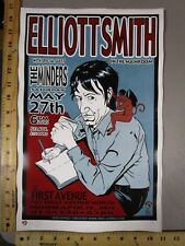 2000 Rock Concert Poster Elliott Smith The Minders Brian Ewing Ap Artist Proof S
