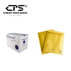 CPS Genuine Featherpost Padded Bubble Envelopes - Gold - All Size - Pack of 200
