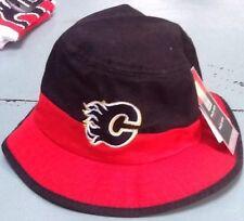 Calgary Flames, Hat, NHL Fan Gear, Adult,  Mens Fitted, Bucket, Reebok...