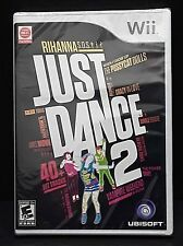 JUST DANCE 2 - Nintendo Wii Ubisoft 40+ Hit Songs!  BRAND NEW & FACTORY SEALED!