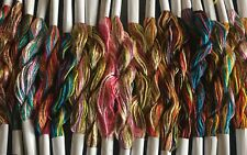20 Skeins Large Silk Stranded Multi Coloured  Embroidery Threads - High Quality