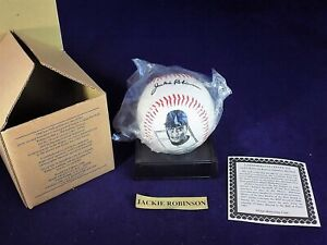 Jackie Robinson Commemorative Baseball with display stand 1996 Avon