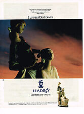PUBLICITE ADVERTISING 084  1990  LLADRO  porcelaine  L'UNIVERS DES FORMES