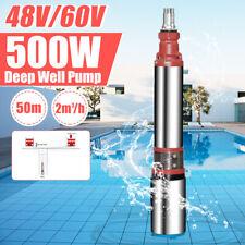 48V/60V 2M³/H Flow Deep Well Pump 50M Max Lift Submersible Water Pump Farm&Ranch