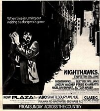 6/6/81PGN27 MOVIE ADVERT 7X7 SYLVESTER STALLONE IN NIGHTHAWKS