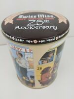 Vintage Swiss Miss Hot Cocoa Mix 25th Anniversary Collector's Round Tin