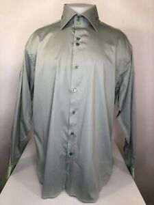AXXESS High Quality - Mens 2XLg. Embroidered Stitching FRENCH CUFF Shirt