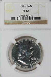 1961    50C NGC    PF66  .50, Benjamin Half, Bell Half Dollar