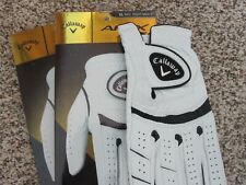2 CALLAWAY APEX TOUR GOLF GLOVES SIZE EXTRA LARGE RIGHT NEW MENS