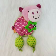 Infantino Baby Pig Rattle Teether Car Seat Stroller Activity Toy Corduroy B350
