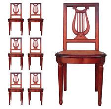 Chaises lyres en acajou époque fin XIXème (série de 6)
