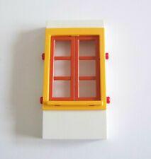PLAYMOBIL (4413) SYSTEMx - Mur 12cm avec Fenêtre Orange & Jaune Maison 4062