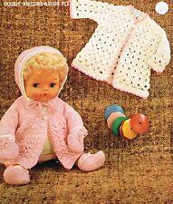 """14 - 15 """"Muñecas del bebé ropa tejer y patrón de ganchillo. (V Muñeca 164)"""