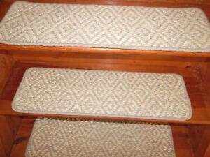 14 Step  9'' x 30'' + 1 Landing 30'' x 30''  50% Sisal Natural  50% Wool Carpet