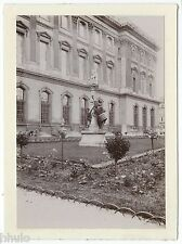 C852 Photographie originale ancienne 1910 statue militaire tambour