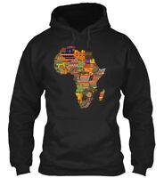 Africa Traditional Pattern Map Gildan Hoodie Sweatshirt