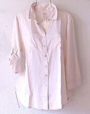 NEW~GRAND & GREENE~French Vanilla Ivory Button Shirt Blouse Top~12/14/L/Large