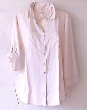 NEW~GRAND & GREENE~Blush Ivory Vanilla Button Shirt Blouse Top~12/14/L/Large