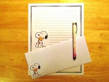 Snoopy and Woodstock Stationery Writing Set With Envelopes - Lined Stationary