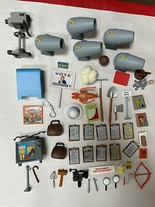 HUGE LOT PLAYMATES SIMPSONS ACCESSORIES FOR ACTION FIGURES Interactive Play set